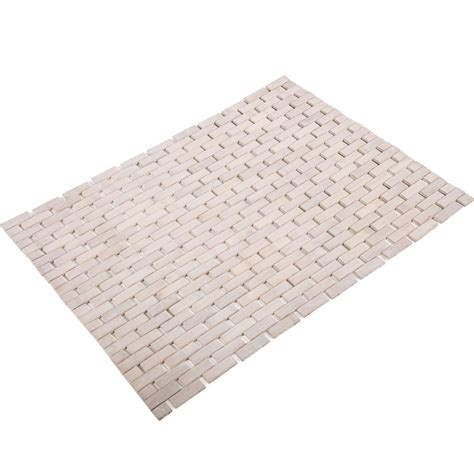 Bamboo Floor Mat by Bamboo Floor Mat In Shower And Bath Mats