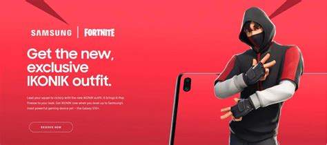 fortnite  samsung collaboration  ikonik exclusive skin outfit fortnite insider