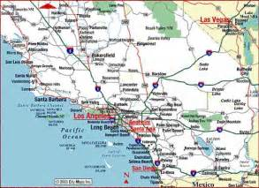 map of counties in southern california california map