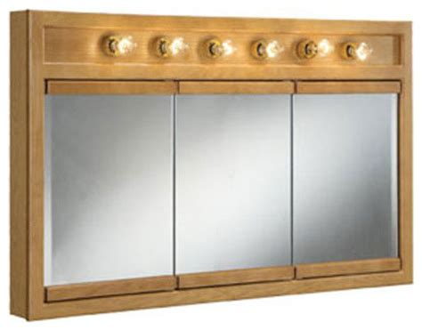 richland 48 inch six light tri view cabinet modern