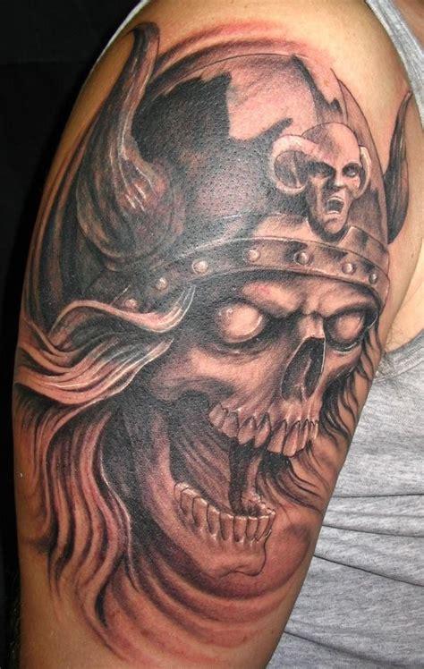 viking skull tattoos cool viking disign part 3 tattooimages biz