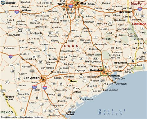 central texas road map south texas map