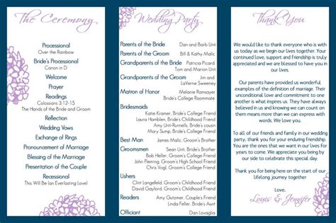 tri fold wedding program template wedding program trifold tale wedding
