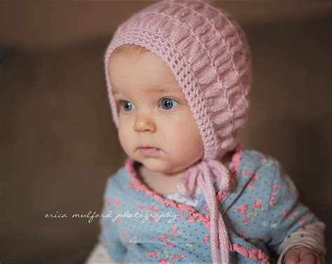 knit baby bonnet vintage style baby bonnethand knit baby hat pink alpaca