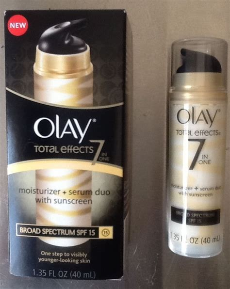 Olay Total Effects Daily Serum review ingredients olay total effects 7 in one moisturizer serum duo spf 15 sunscreen