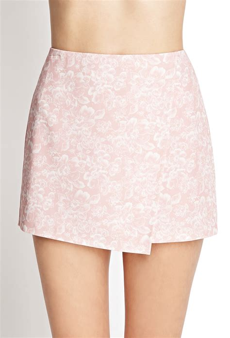 Origami Mini Skirt - forever 21 favorite floral origami skirt in pink pink