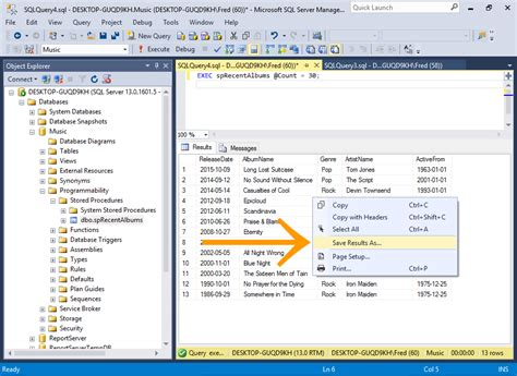 sql query video tutorial download sql server 2016 save query results to a csv file