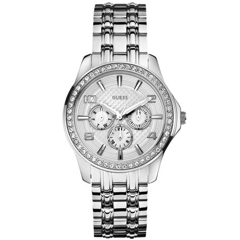 Guess W0810l1 Bracelet Silver Stainless Steel New guess womens stainless steel bracelet 42mm in silver steel lyst