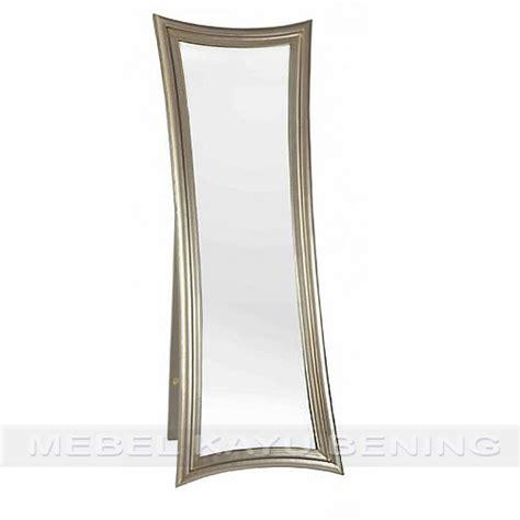Kaca Cermin Warna cermin pigura kaca kayu jati minimalis curve