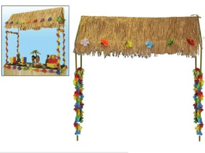 table top tiki bar hut hawaii beach party superstores