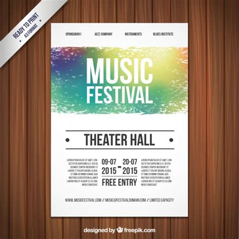 music festival poster template vector premium download