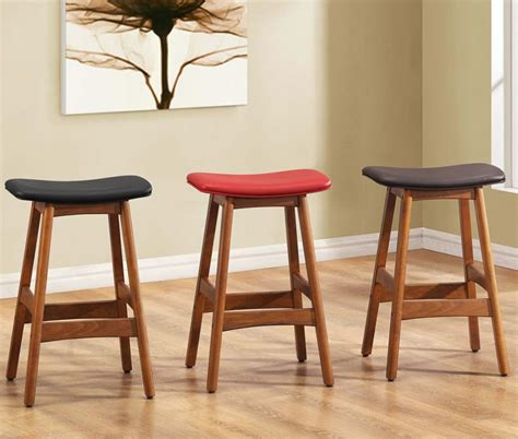 Wood Counter Stools by Inimitable Wood Counter Stools Backless With Leather Seat