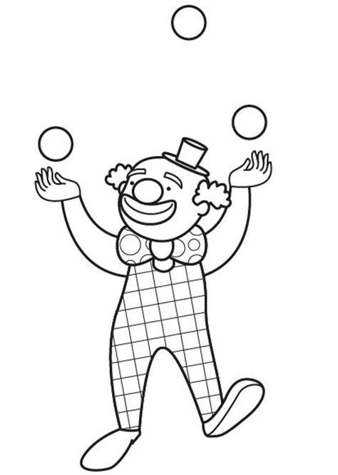 dibujos infantiles para colorear de payasos los payasos del circo dibujo para colorear e imprimir