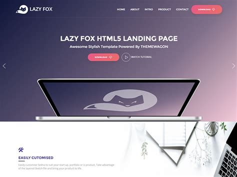 html product page template free free product app landing html5 bootstrap template lazyfox