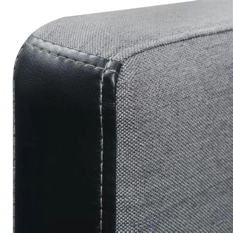 divano letto a l vidaxl divano letto a l in tessuto nero e grigio vidaxl it