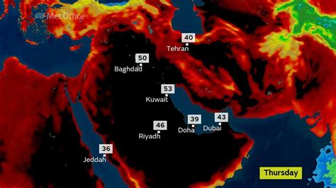Valley Record Heat Temperatures In Iraq And Kuwait Flirt With World Record Heat At 54c Dan S