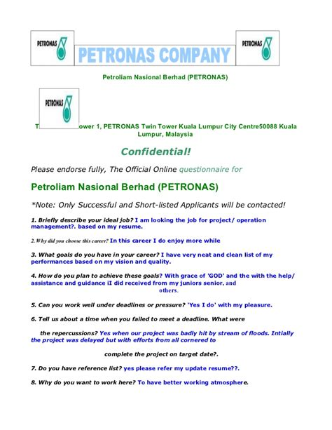 Contract Agreement Letter Petronas Copy Of Petronas International Form