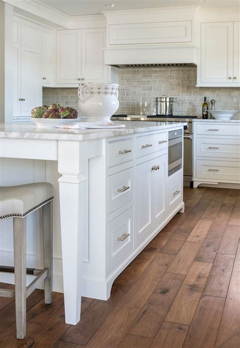 Benjamin Moore Simply White Kitchen Cabinets by Gray Ceramic Tiles Transitional Kitchen Benjamin
