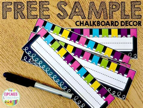 student desk name tags free sle of chalkboard decor including student numbers