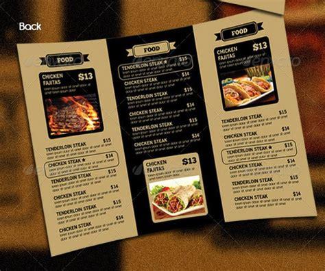 tri fold restaurant menu templates 14 great tri fold restaurant menu psd templates hospitalityzoo com