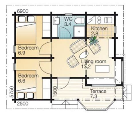 30 sq m how to design a 30 sq m guest house with 2 bedrooms