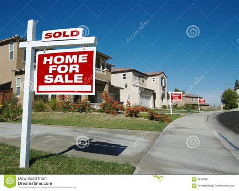 home for sale signs one sold stock photo image 3451096