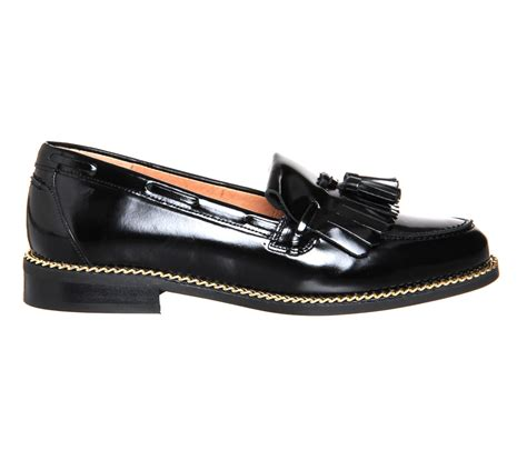office black loafers office extravaganza chain loafers in black lyst