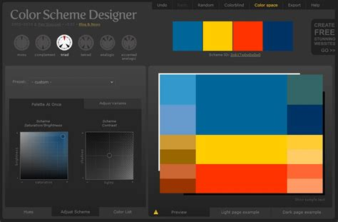 colour scheme creator create color schemes for your web with color scheme