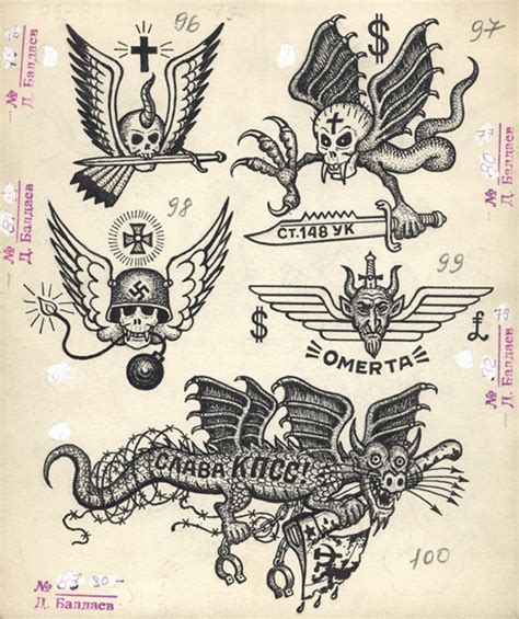 russian tattoos speedboys russian criminal tattoos