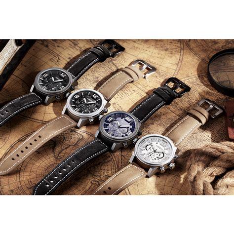Jam Tangan Megir megir jam tangan analog ml3010g black black