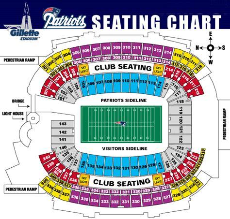 gillette stadium seating chart