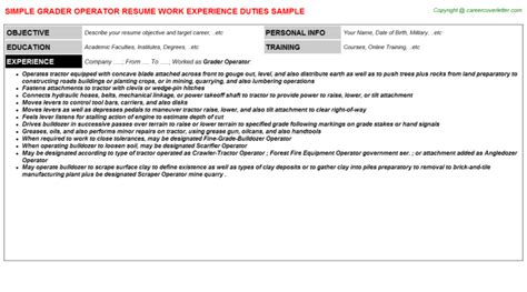 Grader Operator Sle Resume by Term 2nd Grade Substitute Resumes Sles