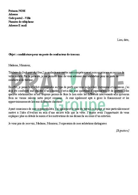 Lettre De Motivation Gratuite Banque Candidature Spontanée lettre de motivation pour emploi formateur