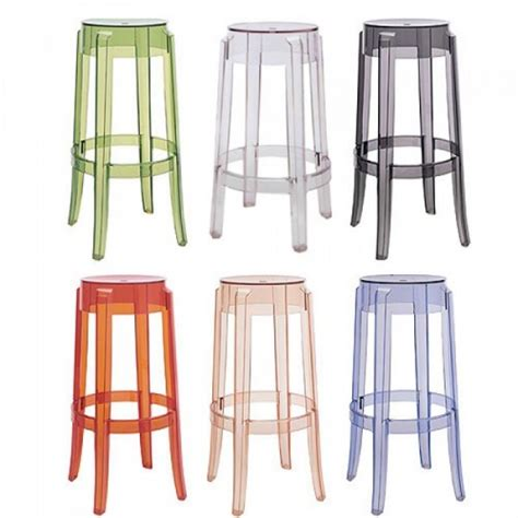 Stool Kartell by Kartell Charles Ghost Stool