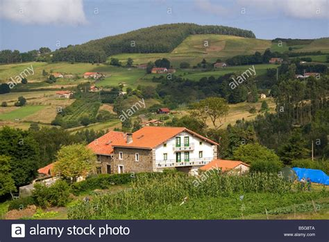 rural housing rural housing near the town of bermeo in the province of biscay stock photo royalty
