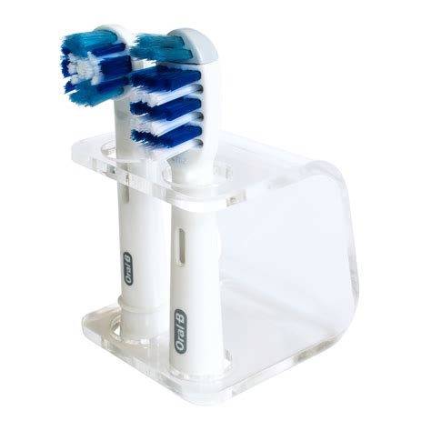 seemii clear electric toothbrush head holder for oral b heads