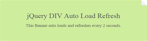 refresh div jquery div auto load and refresh phppot