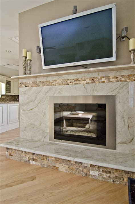 Tile Backsplash For Kitchens With Granite Countertops taj mahal quartzite fireplace surround contemporary
