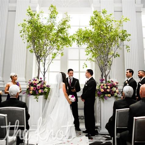 wedding alter backdrops   Indoor Tree Altar   bringing in