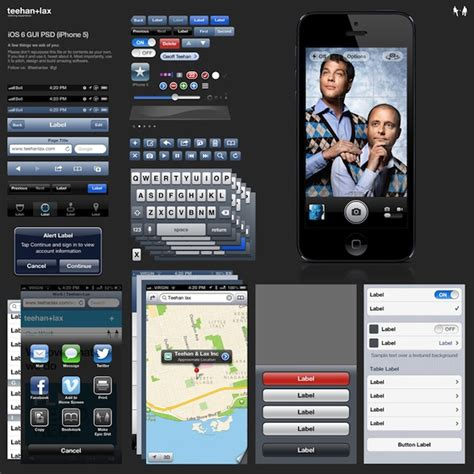ios photoshop template iphone 5 ios 6 gui element psd available for free