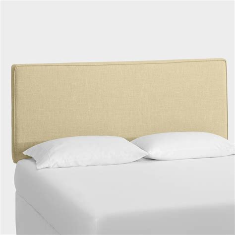linen headboard linen loran upholstered headboard world market
