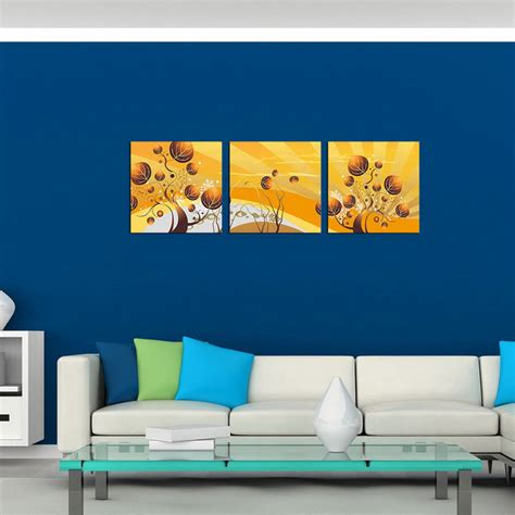 canvas wall murals bizhen painting canvas wall decor murals yellow 3pcs free shipping dealextreme