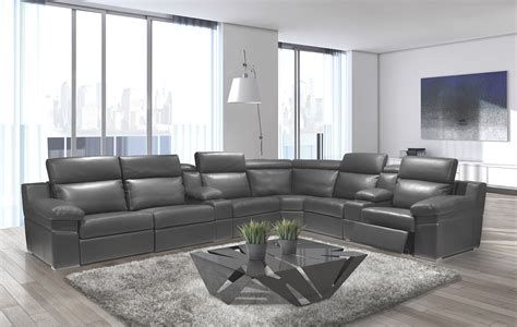contemporary reclining sectional ari modern sectional sofa reclining sectionals