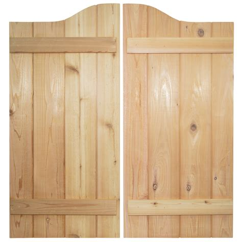 wooden swinging doors custom cedar v groove swinging cafe doors saloon doors