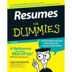 resumes for dummies kennedy joyce business
