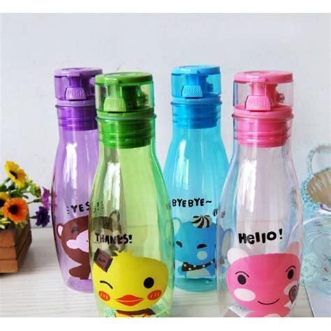 Children Colorful Creative Portable Cup Drink 450ml Botol Minum Anak botol minum motif kartun lucu blue jakartanotebook