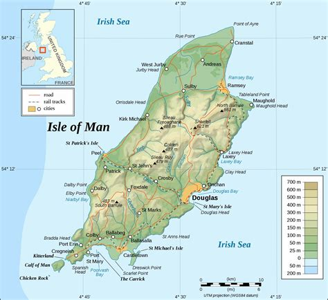 printable road map of isle of wight large isle of man maps for free download and print high