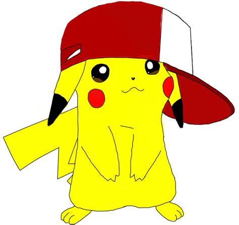 cute pikachu cute pikachu with hat by pikachu in ash s hat by djcrayon on deviantart