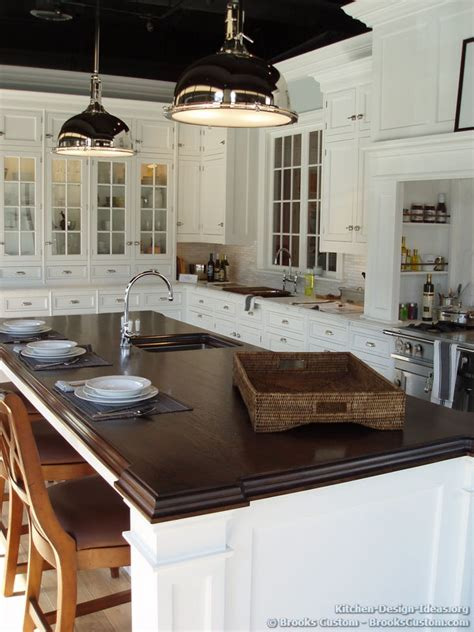 walnut island counter tops traditional kitchen brooks custom portfolio of kitchens countertops