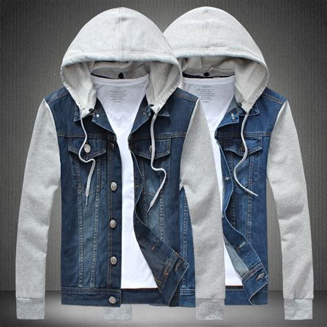 S Casual Regular Outdoor Jackets Denim Jackets With 2015 new autumn hooded denim jacket outdoor streetwear